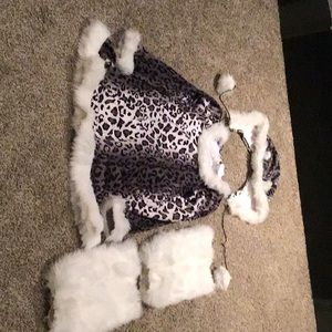 Girl's Snow Leopard Halloween Costume